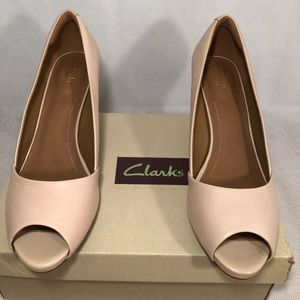 Clark's Women's Dress Pump Heels Leather Sz 10m